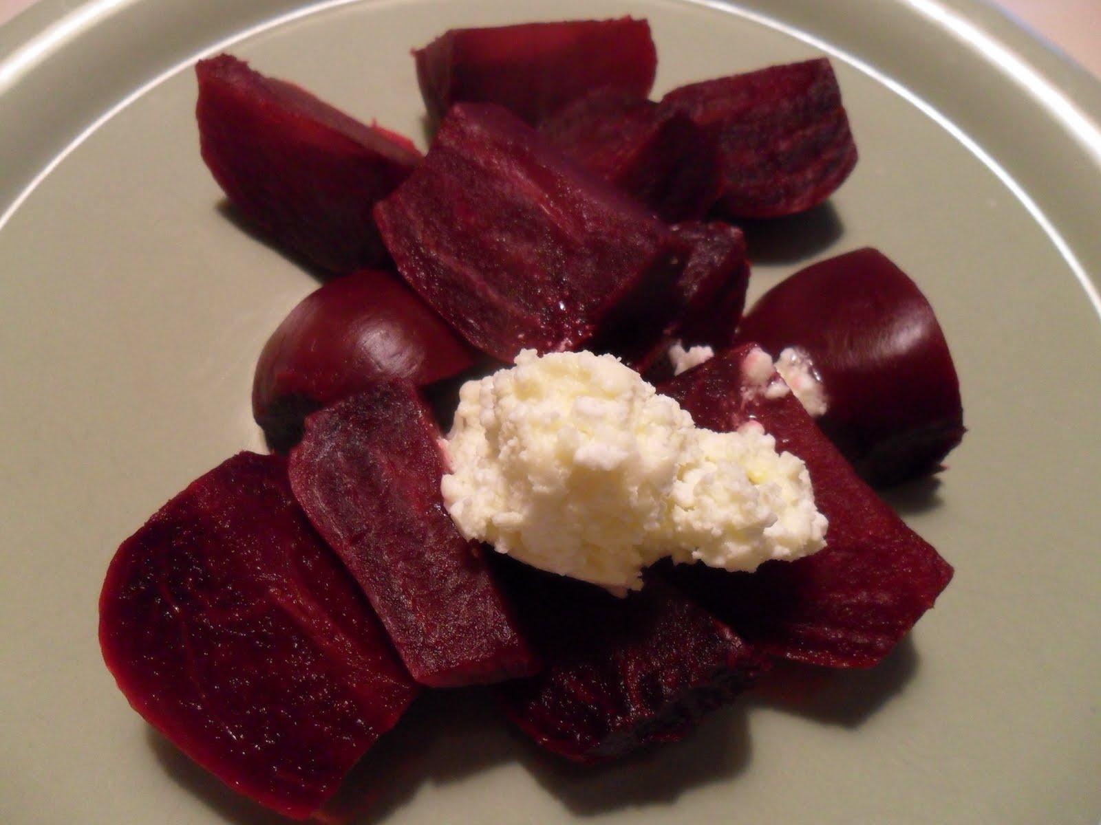 kokta rödbetor med smör