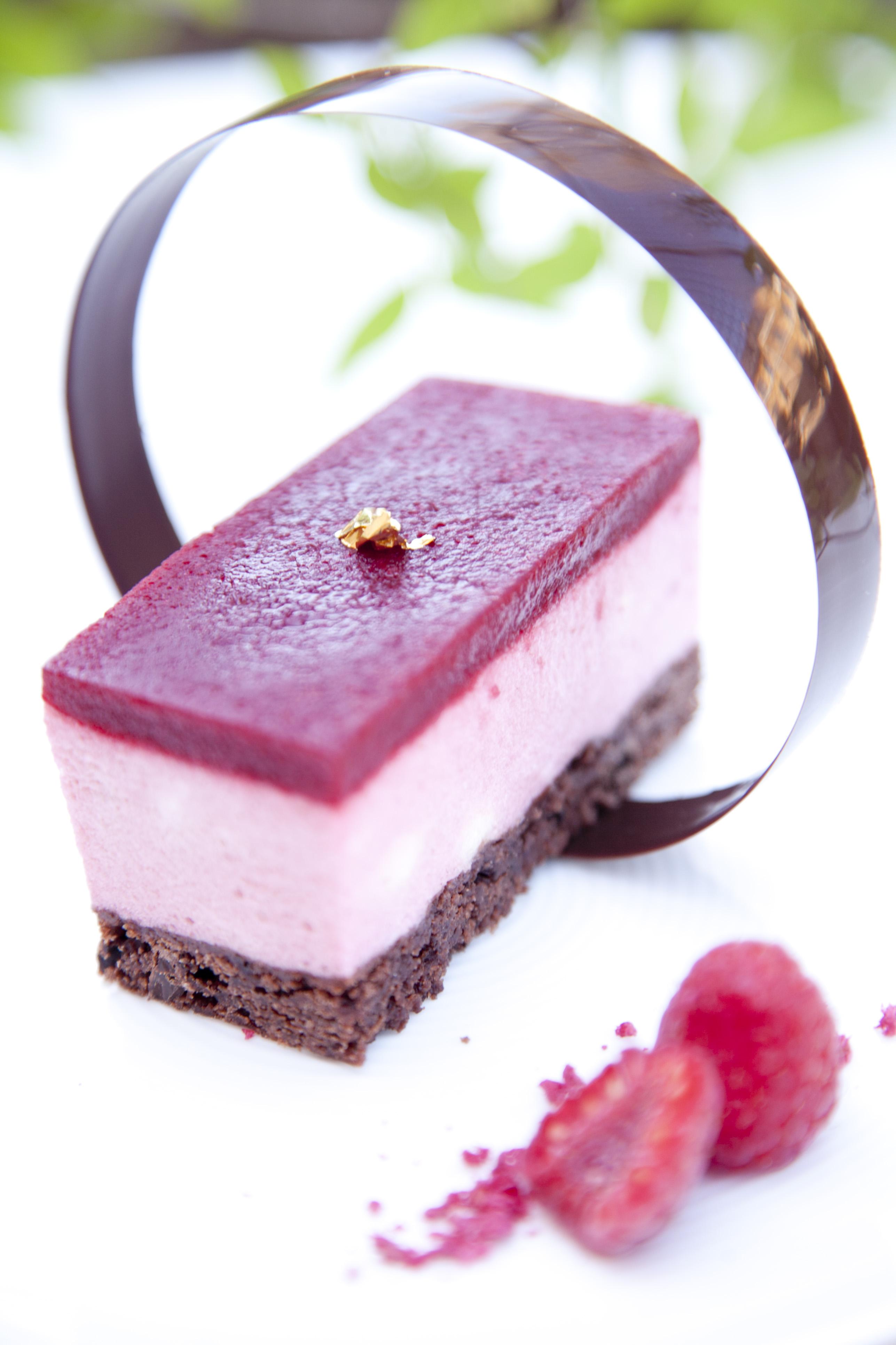 hallonmousse till tårta utan gelatin