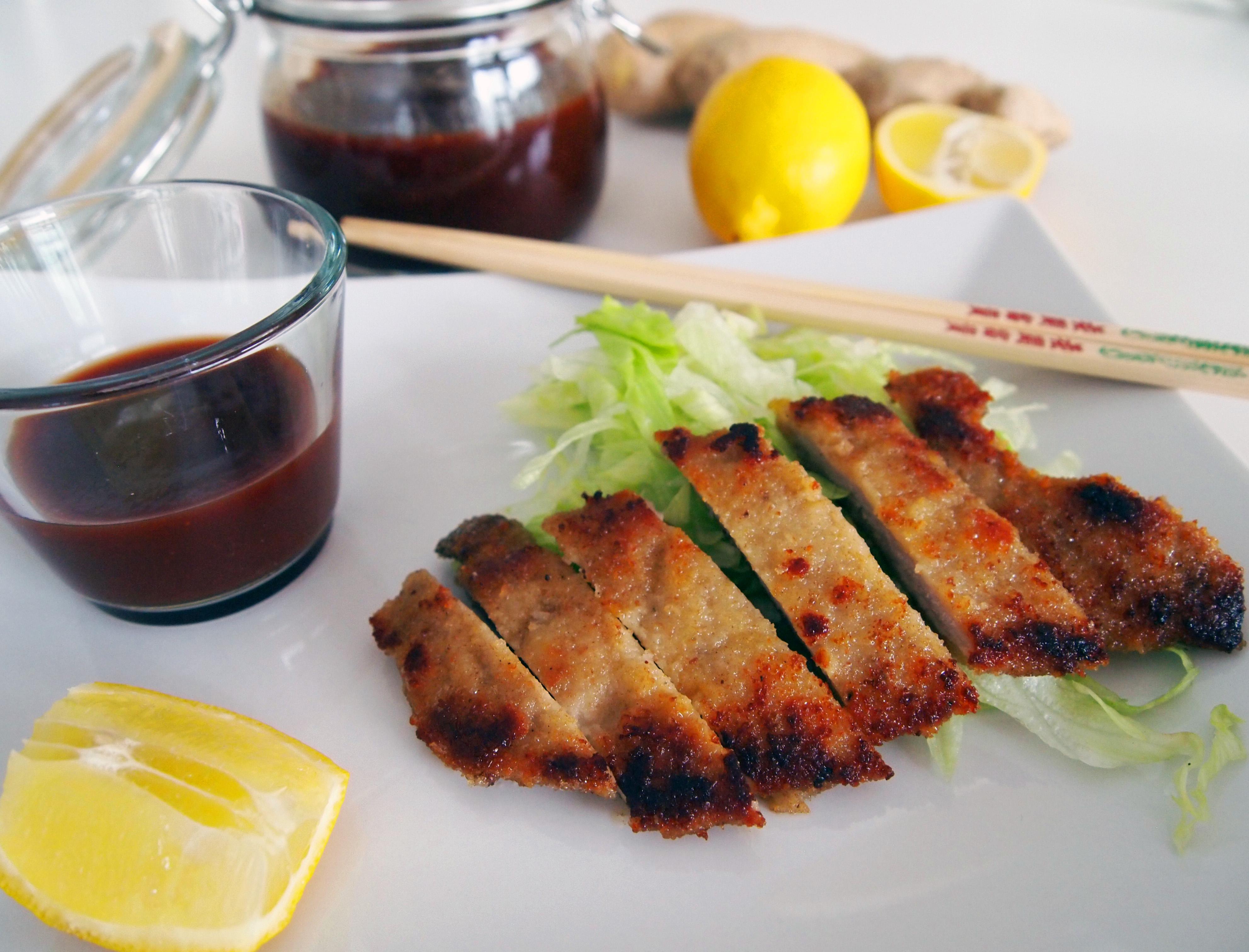 Fläskschnitzel med tonkatsusås